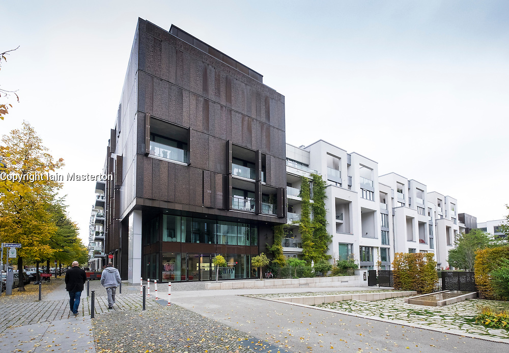 Modern new luxury residential apartment buildings at Marthashof in gentrified Prenzlauer Berg in Berlin Germany