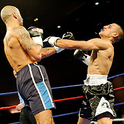 Hedi Bouaziz defeats Christopher Domenech during their bout at the Meidenbauer Center in Bellevue, WA on December 13, 2008.