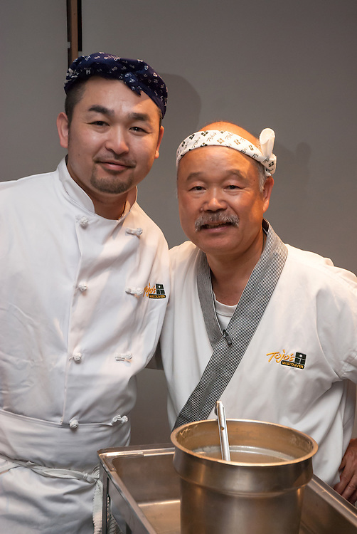 Chef Hidekazu Tojo (Right)