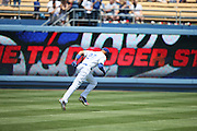 LOS ANGELES, CA - APRIL 28:  Matt Kemp #27 of the Los Angeles Dodgers runs sprints before the game against the Milwaukee Brewers on Sunday, April 28, 2013 at Dodger Stadium in Los Angeles, California. The Dodgers won the game 2-0. (Photo by Paul Spinelli/MLB Photos via Getty Images) *** Local Caption *** Matt Kemp