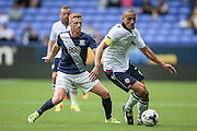 Darren Pratley (Bolton Wanderers) turns with the ball, running down the wing during the Pre-Season Friendly match between Bolton Wanderers and Preston North End at the Macron Stadium, Bolton, England on 30 July 2016. Photo by Mark P Doherty.