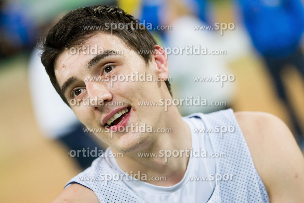 Emir Preldzic during practice session of Fenerbahce Ulker Istanbul (TUR)  1 day before Euroleague Basketball match against KK Union Olimpija on October 18, 2012 in Arena Stozice, Ljubljana, Slovenia. (Photo By Vid Ponikvar / Sportida)