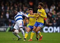 Football - 2018 / 2019 FA Cup - Third Round: Queens Park Rangers vs. Leeds United<br /> <br /> Queens Park Rangers' Bright Osayi-Samuel holds off the challenge from Leeds United's Jamie Shackleton and Tyler Roberts, at Loftus Road.<br /> <br /> COLORSPORT/ASHLEY WESTERN