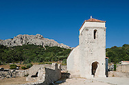 The Church of St Lucy (Sv Lucija) in Jurandvor, near Baska, on the island of Krk, Croatia. It was in this church that the so-called Baska Tablet (Baska plocica), one of the earliest and most important Glagolitic inscriptions in Croatia, dating from around 1100, was found.
