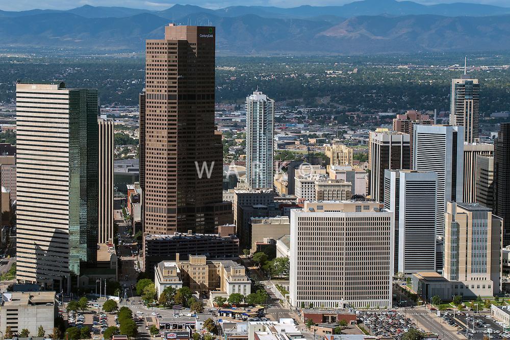 Denver skyline looking west, Aug 20, 2014.  812854