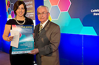 27/01/2014 <br /> SCCUL Enterprise Award<br /> Consumer Goods &amp; Services<br /> (Businesses over 3 Years)<br /> Runner Up<br /> Elysium<br /> <br /> <br /> Owner is Valerie Osborne recieving her award from Paddy O'Donnell SCCUL at the SCCUL Enterprsie awards in the Bailey Allen at NUIG .<br /> Prize is &euro;500 cash and a business profile worth &euro;500 in the special SCCUL Enterprise Awards supplement in the Galway Independent in March<br /> <br /> Elysium Day Sp &amp; Laser Clinic over the past 10 years have received a multitude of National awards recognising and rewarding standards of unsurpassed excellence in professionalism and service as well as contributions made towards innovation in their industry. <br /> Constantly progressing and developing makng them forefront leaders in their sector.<br /> Photo:Andrew Downes