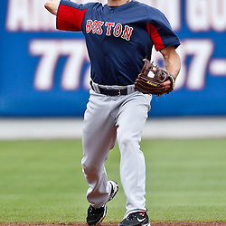 March 6, 2011; Port St. Lucie, FL, USA; Boston Red Sox short stop Nate Spears (80) before a spring training exhibition game against the New York Mets at Digital Domain Park.  Mandatory Credit: Derick E. Hingle