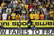 London - Sunday, May 3rd, 2009: Dejected Norwich City supporters during the Coca Cola Championship match at The Valley, London. (Pic by Mark Chapman/Focus Images)