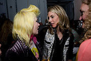 PAM HOGG; KIM HERSOV, Launch of Stephanie Theobald's book' A Partial Indulgence'  drinks provided by Ruinart champage nd Snow Queen vodka. The Artesian at the Langham, 1c Portland Place, Regent Street, London W1<br /> PAM HOGG; KIM HERSOV, Launch of Stephanie Theobald's book' A Partial Indulgence'  drinks provided by Ruinart champage nd Snow Queen vodka. The Artesian at the Langham, 1c Portland Place, Regent Street, London W1 *** Local Caption *** -DO NOT ARCHIVE-© Copyright Photograph by Dafydd Jones. 248 Clapham Rd. London SW9 0PZ. Tel 0207 820 0771. www.dafjones.com.
