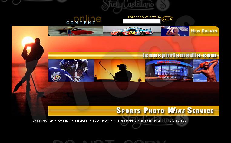 Icon Sports Media website header photo usage.