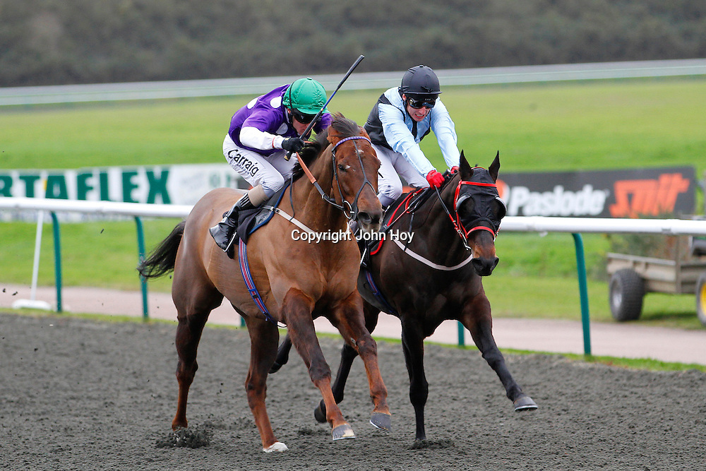 Wisecraic and Liam Keniry winning the 1.50 race