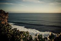 The Indian Ocean at sunset near Uluwatu Temple, Bali, Indonesia.
