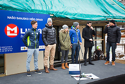Slovenian biathlon team during Presentation of new house of Jakov Fak, made by Lumar, on February 26, 2018 in Lesce, Lesce, Slovenia. Photo by Ziga Zupan / Sportida