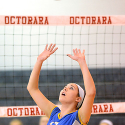 Photos by Tom Kelly IV<br /> East's Rachael Graham (17) sets the ball during the Downingtown East vs Octorara volleyball game at Octorara on Wednesday October 16, 2013.