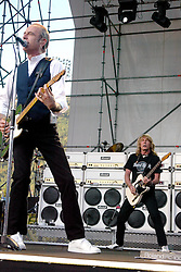 Worldwide famous with british rock legends Status Quo, guitar player Rick Parfitt dies at 68 in Marbella's Hospital (Sain) for the consequences of a serious infection. File images with Quo's co-founder Francis Rossi, during a big show in Como, Italy, in 2004.<br /> 25 Dec 2016<br /> Pictured: Francis Rossi and Rick Parfitt and Status Quo.<br /> Photo credit: Bruno Marzi / MEGA<br /> <br /> TheMegaAgency.com<br /> +1 888 505 6342