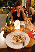 Berlin, Germany. Chez Maurice restaurant. Schnecken (escargots).