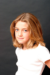 Portrait of girl aged 9 UK