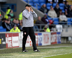 Cardiff City Manager, Ole Russell Slade gives players directions. - Photo mandatory by-line: Alex James/JMP - Mobile: 07966 386802 - 06/12/2014 - SPORT - Football - Cardiff - Cardiff City Stadium  - Cardiff City v Rotherham United  - Football