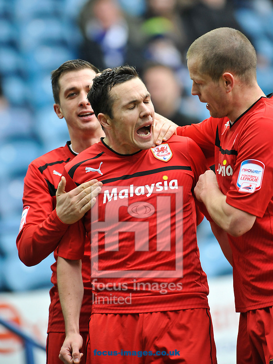 Picture by Richard Land/Focus Images Ltd +44 7713 507003.16/03/2013.Don Cowie of Cardiff City celebrates scoring during the npower Championship match at Hillsborough, Sheffield.