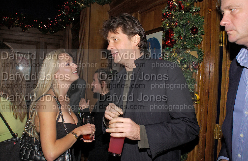 Anouskha de Giorgio and Lord John Somerset, Tatler magazine Little Black Book party, Tramp. Jermyn St. 10 November 2004. ONE TIME USE ONLY - DO NOT ARCHIVE  © Copyright Photograph by Dafydd Jones 66 Stockwell Park Rd. London SW9 0DA Tel 020 7733 0108 www.dafjones.com