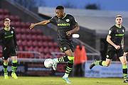 Forest Green Rovers midfielder Ebou Adams (14) controls the ball during the EFL Sky Bet League 2 match between Northampton Town and Forest Green Rovers at the PTS Academy Stadium, Northampton, England on 14 December 2019.
