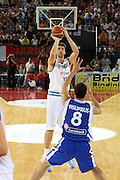 DESCRIZIONE : Roma Amichevole preparazione Eurobasket 2007 Italia Grecia <br /> GIOCATORE : Andrea Bargnani<br /> SQUADRA : Nazionale Italia Uomini <br /> EVENTO : Amichevole preparazione Eurobasket 2007 Italia Grecia <br /> GARA : Italia Grecia <br /> DATA : 30/08/2007 <br /> CATEGORIA : Tiro<br /> SPORT : Pallacanestro <br /> AUTORE : Agenzia Ciamillo-Castoria/G.Ciamillo<br /> Galleria : Fip Nazionali 2007 <br /> Fotonotizia : Roma Amichevole preparazione Eurobasket 2007 Italia Grecia <br /> Predefinita :