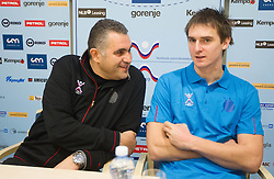 Boris Denic and Sebastian Skube at training camp of Slovenian Handball National team before World Cup 2013 in Spain, on December 28, 2012 in Hotel Dobrava, Zrece, Slovenia. (Photo By Vid Ponikvar / Sportida.com)