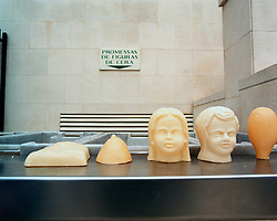 Candle wax figures in the shape of children, heads, feet, and breasts are left near the Cathedral by pilgrims in supplication to the Madonna of Fatima for various ailments they or their loved ones may be suffering from.