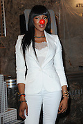 May 24, 2016 - New York, U.S. - Naomi Campbell was seen lighting the Empire State Building red in honor of Red Nose Day<br /> ©Exclusivepix Media