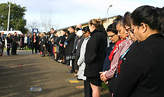 Auckland-Police minutes silence for slain officer Matthew Hunt