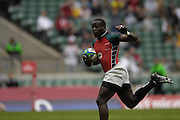 Twickenham, England. Innocent SIMIYA,  Kenya vs NZ,  at the London Sevens Rugby, Twickenham Stadium, (date} [credit Peter Spurrier/ Intersport Images]