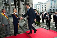 S.A.R. King Felipe VI: Lunch at the Provincial Palace during the Commemoration of the 100th anniversary of the First World War, in Li&egrave;ge, Belgium, on August 4, 2014.<br /> <br /> S.A.R. Le Roi Felipe VI d'Espagne: Lunch au Palais Provincial lors des comme&acute;morations organise&acute;es par le<br /> Gouvernement fe&acute;de&acute;ral belge a` l&rsquo;occasion<br /> du Centi&egrave;me anniversaire de la<br /> Premie`re Guerre mondiale, &agrave; Li&egrave;ge, Belgique. 4 Ao&ucirc;t 2014.