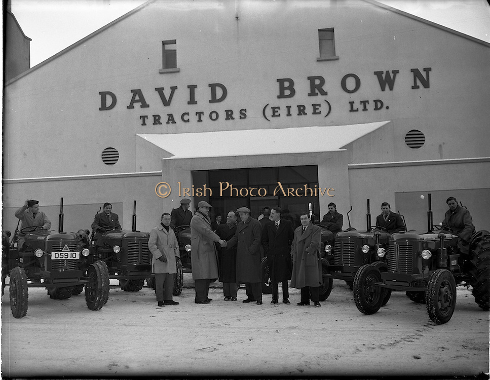 17/01/1955.01/17/1955.17 January 1955 .David Brown Tractors (Eire) Ltd. Sale of six tractors at Dominick St, Broadstone, Dublin .