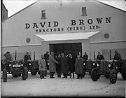 17/01/1955.01/17/1955.17 January 1955 .David Brown Tractors (Eire) Ltd. Sale of six tractors at Dominick St, Broadstone, Dublin .