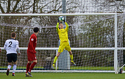 DERBY, ENGLAND - Friday, March 8, 2019: Liverpool's goalkeeper Caoimhin Kelleher during the FA Premier League 2 Division 1 match between Derby County FC Under-23's and Liverpool FC Under-23's at the Derby County FC Training Centre. (Pic by David Rawcliffe/Propaganda)