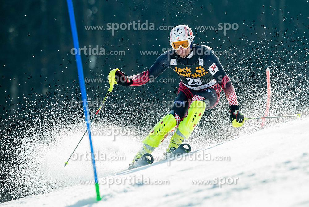 KOSTELIC Ivica of Croatia competes during 1st Run of Men Slalom race of FIS Alpine Ski World Cup 54th Vitranc Cup 2015, on March 15, 2015 in Kranjska Gora, Slovenia. Photo by Vid Ponikvar / Sportida