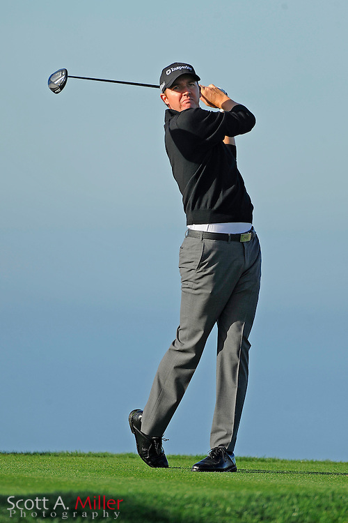 Jimmy Walker tees off on the 13th hole during the second round of the Farmers Insurance Open on the North Course at Torrey Pines on Jan. 27, 2012 in La Jolla, California. ..©2012 Scott A. Miller