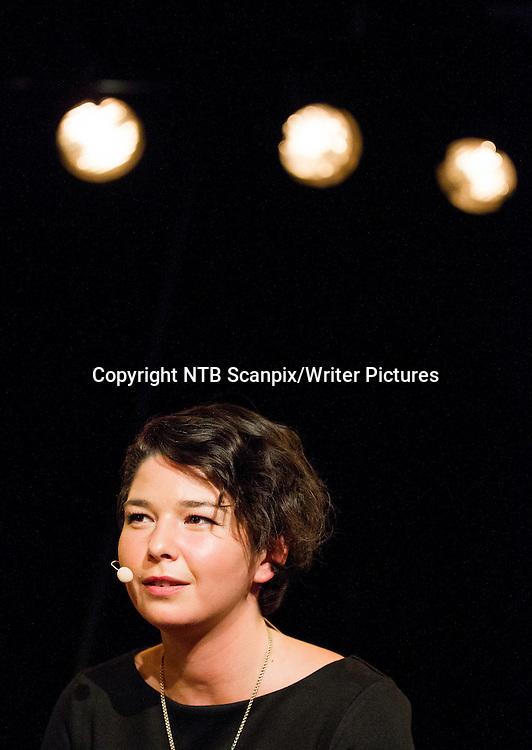 Oslo  20140910.<br /> Maria Amelie lanserer boka Takk p&Acirc; Kulturhuset i Oslo onsdag kveld.<br /> Foto: Vegard Wivestad Gr&macr;tt / NTB scanpix<br /> <br /> NTB Scanpix/Writer Pictures<br /> <br /> WORLD RIGHTS, DIRECT SALES ONLY, NO AGENCY