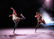 Dancers perform during the Ailey II New York Season Dress Rehearsal at The Alvin Ailey Citigroup Theater in New York City, New York on March 29, 2016.