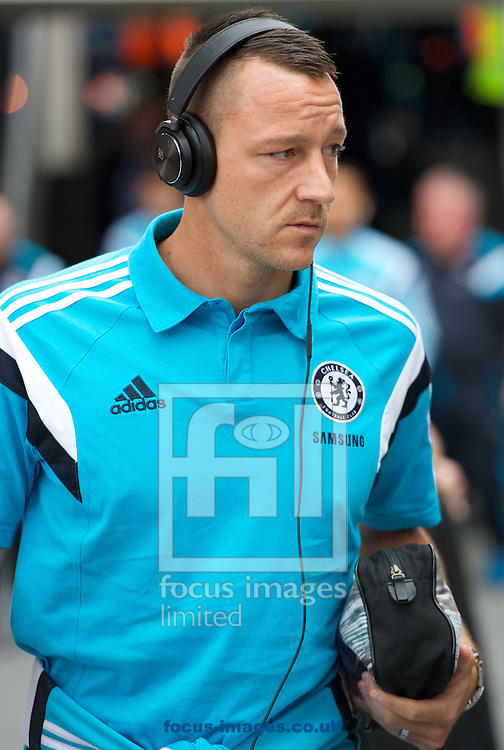Chelsea captain John Terry arrives for his 500th appearance for the team  arriving for the Barclays Premier League match at Selhurst Park, London<br /> Picture by Alan Stanford/Focus Images Ltd +44 7915 056117<br /> 18/10/2014