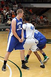 29 June 2013:  51-Trevor Seibring, 44-Jaylon Tate.  2013 Boys Illinois Basketball Coaches Association All Start game at the Shirk Center in Bloomington IL