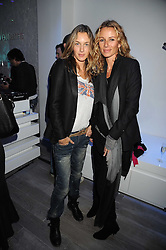 Left to right, CECILIA BOMSTROME and CAROLE GERLAND Creative Director of Zadig & Voltaire at a party hosted by Kate Sumner at Zadig & Voltaire to celebrate the brand's arrival in London at 182 Westbourne Grove, London W11 on 14th October 2008.