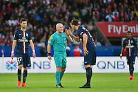 Zlatan IBRAHIMOVIC / Sebastien MOREIRA - 08.05.2015 -  PSG / Guingamp - 36eme journee de Ligue 1<br />Photo : Dave Winter / Icon Sport