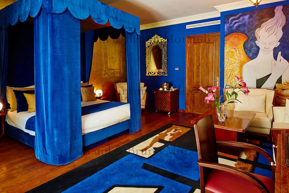 Maroc, Casablanca, hotel Spa Le Doge, Relais et Chateaux, chambre Jean Cocteau // Morocco, Casablanca, Le Doge Hotel and Spa, Relais et Chateaux group, Jean Cocteau room