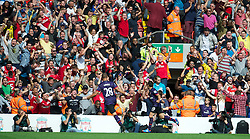 LIVERPOOL, ENGLAND - Sunday September 2, 2012: Arsenal's Santi Cazorla celebrates scoring the second goal against Liverpool during the Premiership match at Anfield. (Pic by David Rawcliffe/Propaganda)