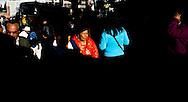 Abril y Mayo 2011/Bolivia<br /> Carmen Rosa La Luchadora al centro de la fotograf&iacute;a de rojo camina alrededor de la gente por las calles del centro de la Paz Bolivia<br /> <br /> Foto:Juan Gonzalez