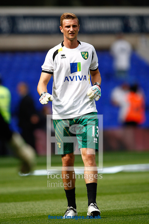 Picture by Andrew Tobin/Focus Images Ltd +44 7710 761829.01/09/2012. Declan Rudd of Norwich looks on before the Barclays Premier League match at White Hart Lane, London.