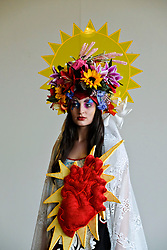 Pictured: <br /> <br /> Edinburgh College of Art students held a photo call before their degree show.<br /> <br /> Ger Harley / EEm