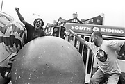 Velvet Revolution Tour Site - Unloading artistic sculptures, Sheffield, 19th September 1994