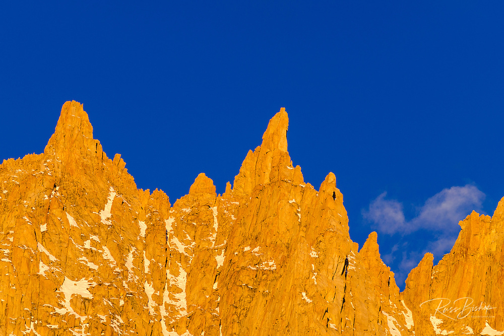 Spires on the Sierra crest near Mount Whitney, John Muir Wilderness, California USA